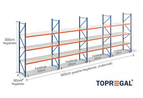 9 2m lagerregal 300cm hoch 60cm tief mit 3 ebenen inkl. Black Bedroom Furniture Sets. Home Design Ideas