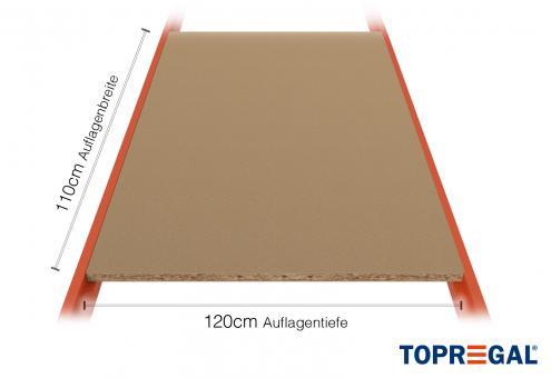 Lagerregal Regalboden aus Holz 110cm / 120cm tief