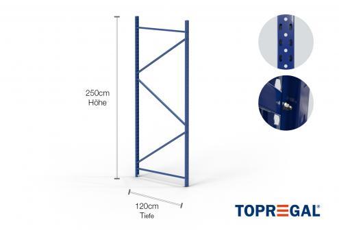 Lagerregal Ständer 250cm / 120cm tief
