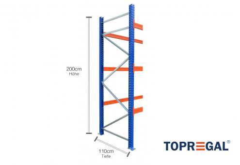 Palettenregal Ständer 200cm hoch / 110cm tief / Feldlast: 9000kg