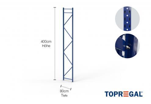Lagerregal Ständer 400cm / 80cm tief