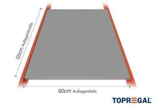 Lagerregal Regalboden aus Stahl 55cm / 60cm tief