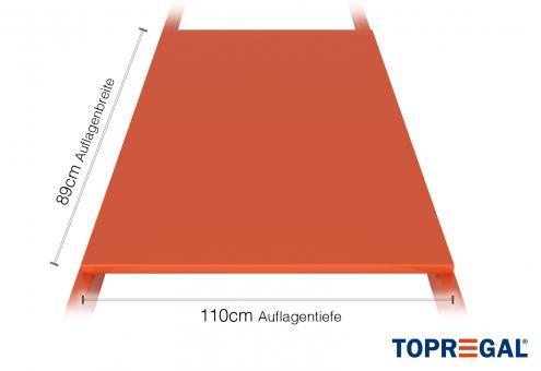 Palettenregal Regalboden aus Stahl 360cm/110cm tief