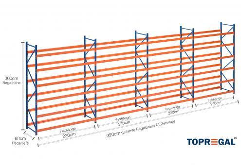 9 2m reifenregal 300cm hoch 60cm tief 6 ebenen f r 288 reifen. Black Bedroom Furniture Sets. Home Design Ideas