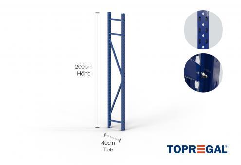 Lagerregal Ständer 200cm / 40cm tief