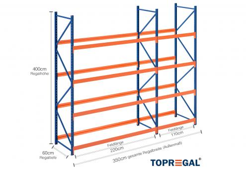 3 5m reifenregal 400cm hoch 60cm tief 4 ebenen f r 72 reifen. Black Bedroom Furniture Sets. Home Design Ideas