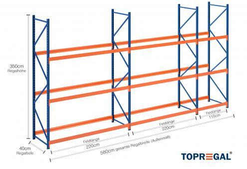 5 8m reifenregal 350cm hoch 40cm tief 3 ebenen f r 90 reifen. Black Bedroom Furniture Sets. Home Design Ideas