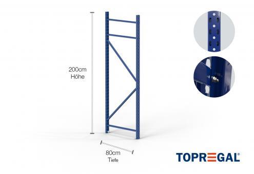 Lagerregal Ständer 200cm / 80cm tief