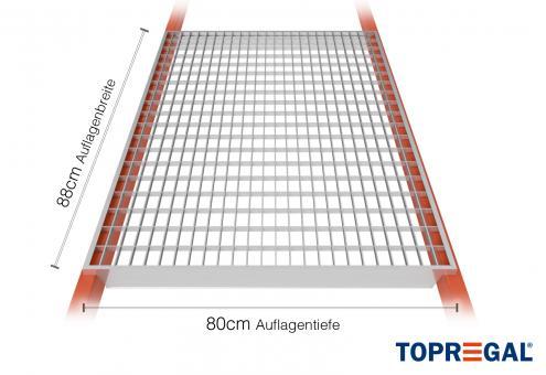 Palettenregal Gitterrost verzinkt 360cm/80cm Belastung 2200kg