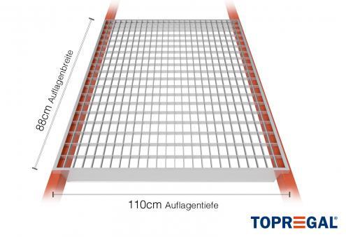 Palettenregal Gitterrost verzinkt 88cm/110cm Belastung 800kg