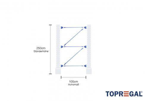 kragarmregal feld 2 5m hoch pulverbeschichtet 1m breit. Black Bedroom Furniture Sets. Home Design Ideas