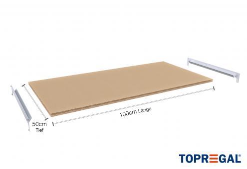 FB200 Holzboden 100cm breit/50cm tief inkl. Befestigungsstreben