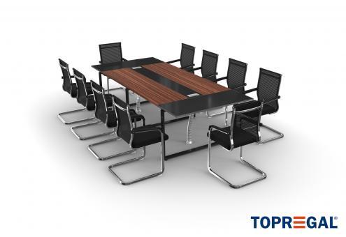 Konferenztisch Set ANJA280 mit Stühlen für 10 Personen