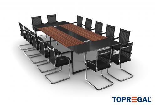Konferenztisch Set ANJA360 mit Stühlen für 14 Personen