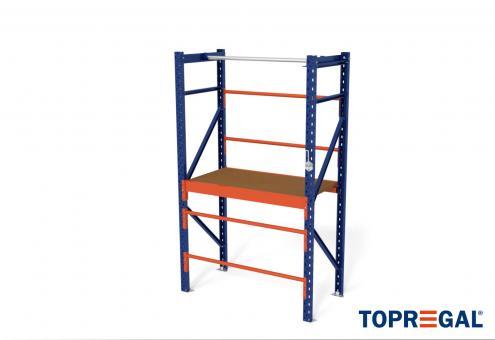 1,2m Packtisch MFP1000, 200cm hoch, 40cm höhenverstellbar, 60cm tief, inkl. Multiplexplatte