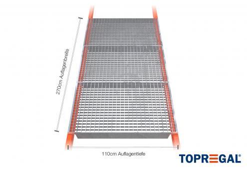 Palettenregal Gitterrost verzinkt 270cm/110cm Belastung 2400kg