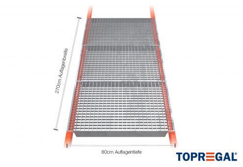 Palettenregal Gitterrost verzinkt 270cm/80cm Belastung 2400kg