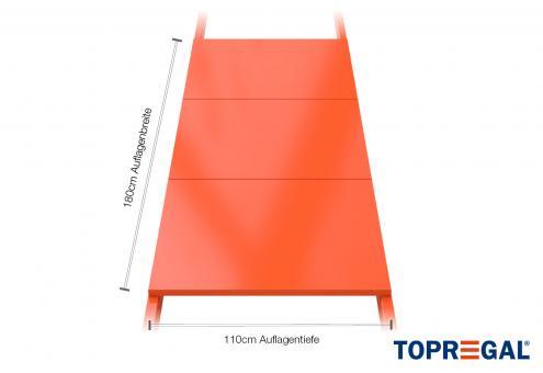 Palettenregal Regalboden aus Stahl 180cm/110cm tief