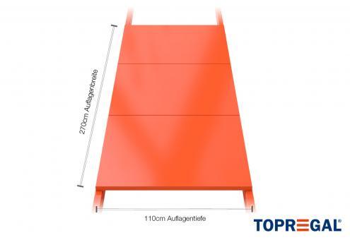 Palettenregal Regalboden aus Stahl 270cm/110cm tief