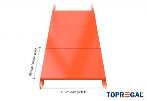 Palettenregal Regalboden aus Stahl 89cm / 110cm tief