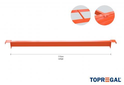 Tiefenauflage / Tiefensteg für Palettenregal 110cm