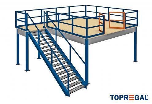 Lagerbühne: Modul A, Grundmodell mit Treppe und Übergabestation