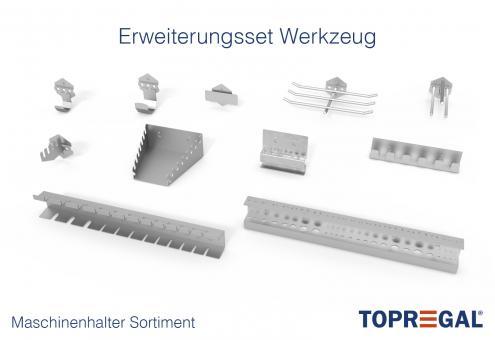 Werkzeughalter / Maschinenhalter: Erweiterungsset Werkzeug-/Maschinen 11-Teilig für Lochwand/Seitenwand