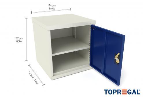 Werkzeugschrank WST mit Tür, 74,8cm tief für MFW/MFR