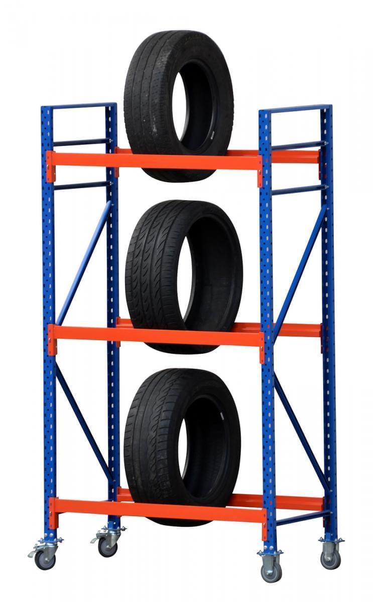 reifenregal fahrbar 230cm mit 5 ebenen 60cm tief 200cm hoch. Black Bedroom Furniture Sets. Home Design Ideas